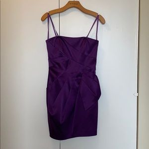Max and Cleo purple strapless dress
